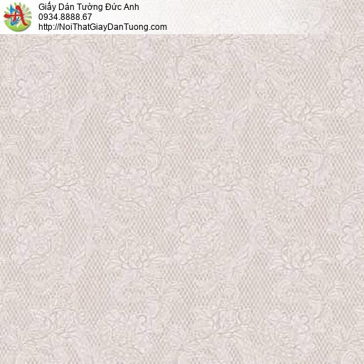 63095 - Giấy dán tường hoa văn chìm, bông hoa nhỏ màu nâu đất nhạt