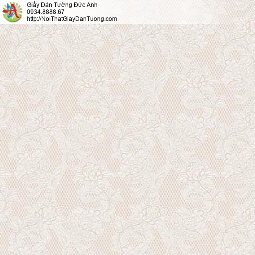 63096 - Giấy dán tường hoa văn nhỏ màu đỏ nhạt, bông hoa màu nâu nhạt