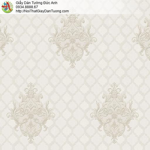 8801-4 - Giấy dán tường kiểu ca rô màu xám phong cách cổ điển Châu Âu