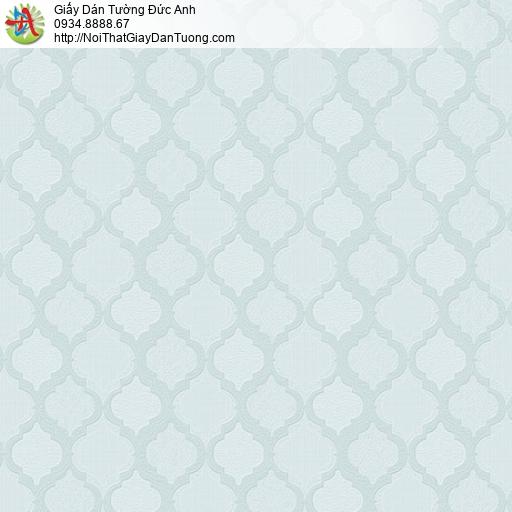 8802-2 - Giấy dán tường hình thoi, kiểu ca rô màu xanh lơ, xanh nhạt