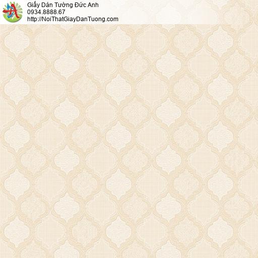 8802-5 - Giấy dán tường hoa văn hình dạng ca rô màu vàng, màu cam nhạt