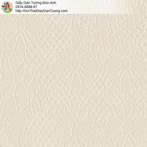 8803-1 - Giấy dán tường màu vàng nhạt, hoa văn chìm màu nâu nhạt