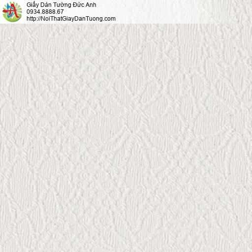 8803-2 - Giấy dán tường hoa văn chìm màu trắng, hoa văn dạng gân