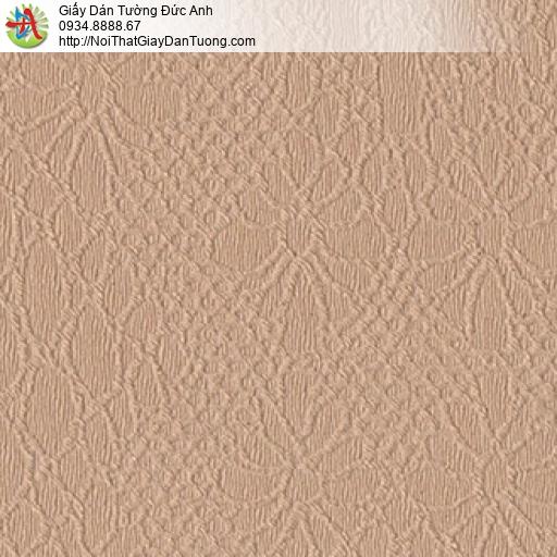 8803-5 - Giấy dán tường hoa văn chìm màu nâu đỏ, màu cam đổ đẹp