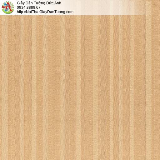 8809-4 - Giấy dán tường dạng kẻ sọc màu vàng đồng, thuê thợ dán tường