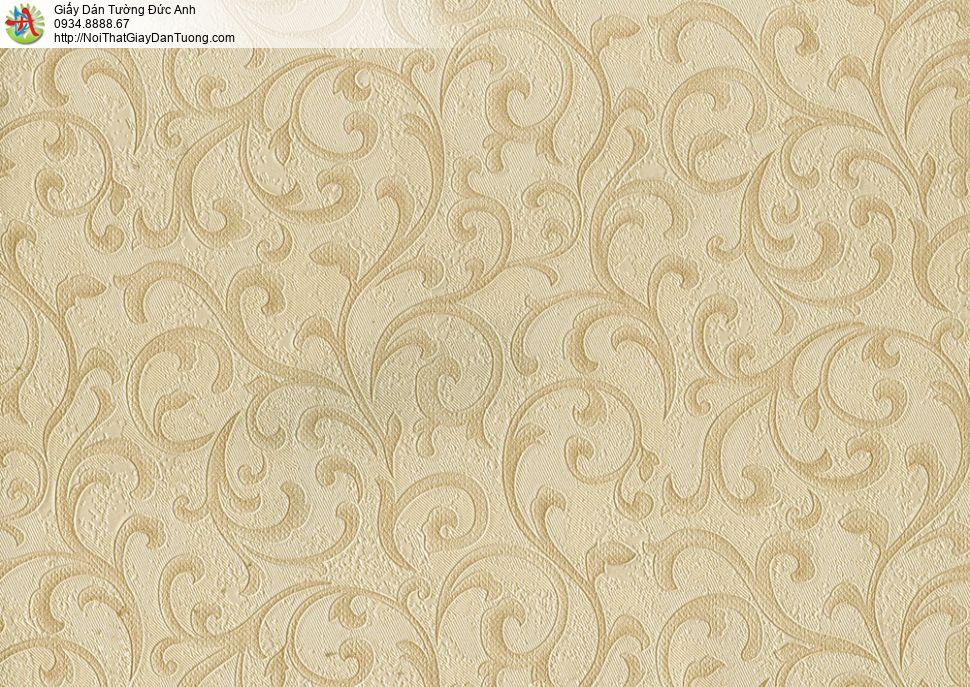 8812-4 - Giấy dán tường hoa văn màu vàng đẹp, công ty Đức Anh Sài Gòn