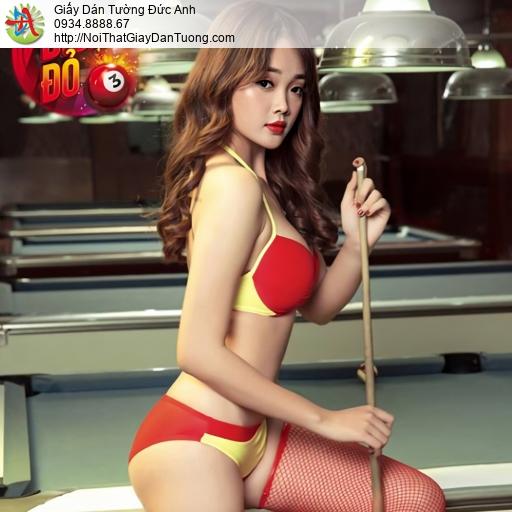 DA346- Tranh dán tường billard, Billiards & Snooker, Pool, bida, bi-a