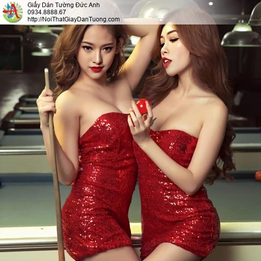 DA349 - Tranh dán tường billard, Billiards & Snooker, Pool, Billiard