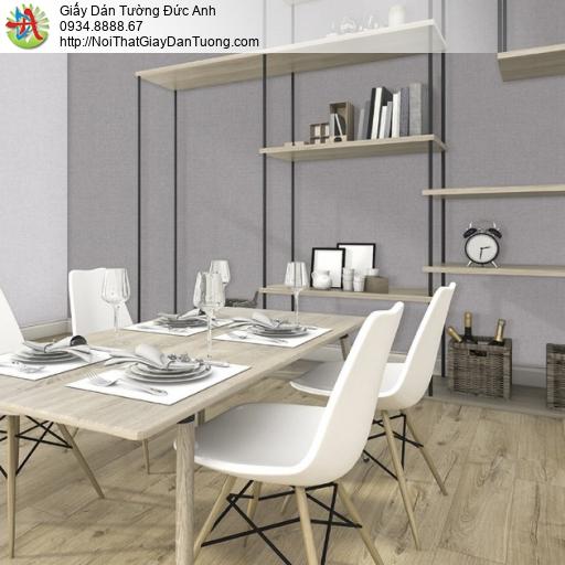 25024-4 - Giấy dán tường dạng gân màu xám đơn giản, giấy một màu đẹp