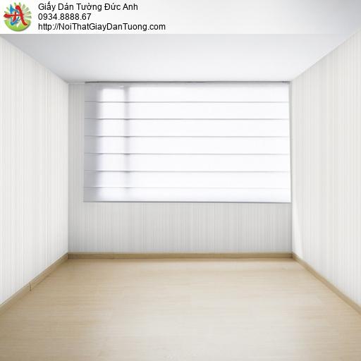 25031-2- Giấy dán tường sọc nhỏ màu kem, giấy kẻ sọc nhỏ màu vàng nhạt