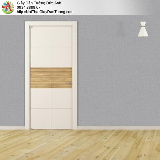 25033-5 - Giấy dán tường màu xám, giấy gân nhỏ màu xám hiện đại