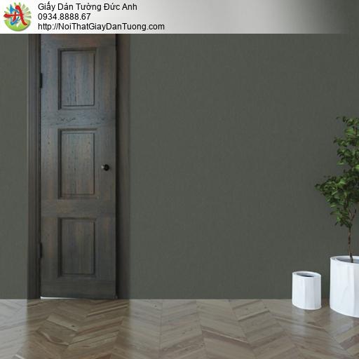 25042-5 - Giấy dán tường màu xanh rêu, giấy trơn xanh rêu mới 2020
