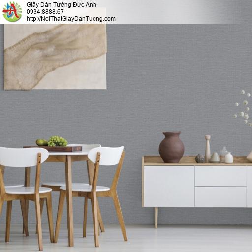 25044-4 - Giấy dán tường gân vải, giấy giả vải màu xám, dán tường xám