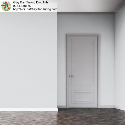 25045-3 - Giấy dán tường trơn màu xám nhạt, giấy gân trơn đơn giản