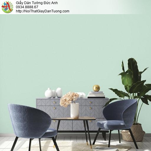 25047-5 - Giấy dán tường màu xanh lá cây, giấy gân trơn đơn giản 2020
