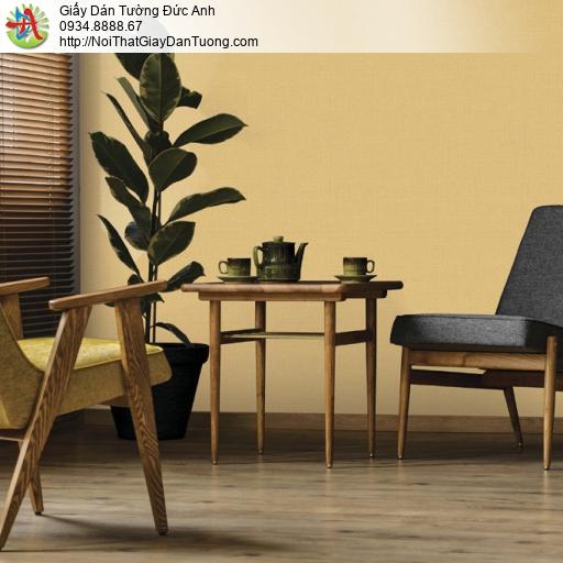 25048-6 - Giấy dán tường màu vàng đồng, giấy gân trơn màu vàng đậm