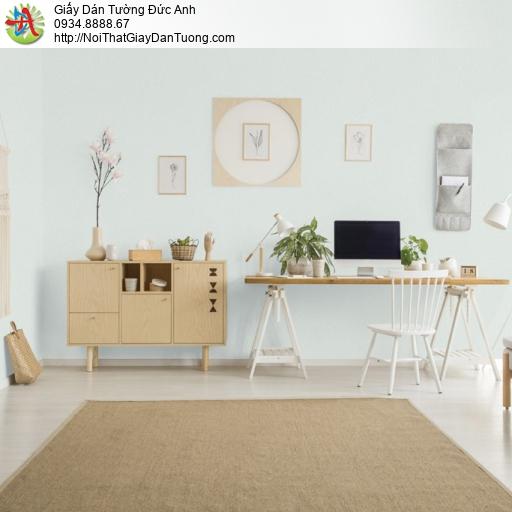 25049-2 - Giấy dán tường dạng trơn màu xanh nhạt, giấy hiện đại 2021