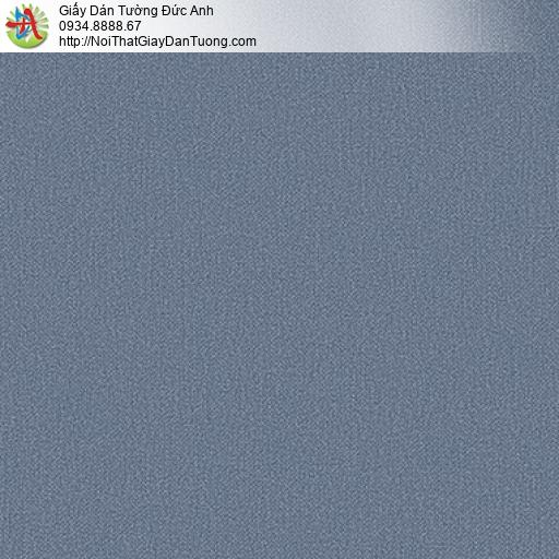 25050-6 - Giấy dán tường màu xanh than, giấy gân trơn màu xám đậm