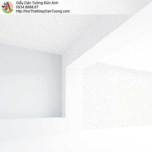 65000-1- Giấy dán tường dạng gân màu trắng có kim tuyến, giấy đơn giản