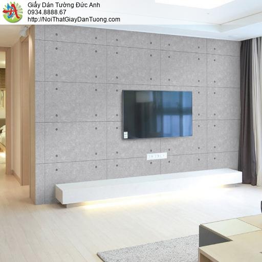 70180-3 - Giấy dán tường giả bê tông, tấm màu bê tông màu xám tro đẹp