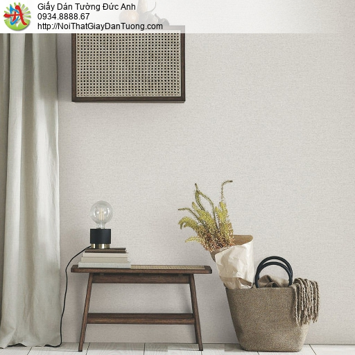 70194-4- Giấy dán tường hiện đại màu xám nhạt, giấy gân một màu xám