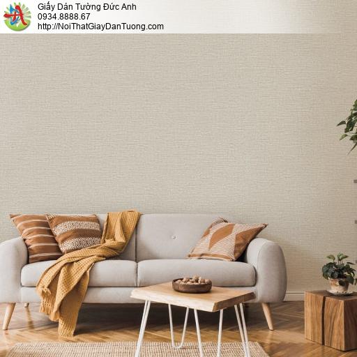 70199-3 - Giấy dán tường màu vàng, giấy gân trơn màu nâu nhạt