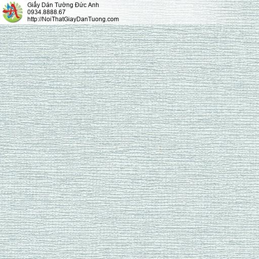 70200-2 - Giấy dán tường màu xanh cốm, giấy gân ngang màu xanh lơ nhạt