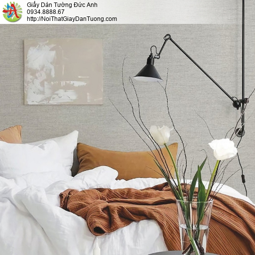 70200-7 - Giấy dán tường màu xám hiện đại, giấy gân ngang mới nhất