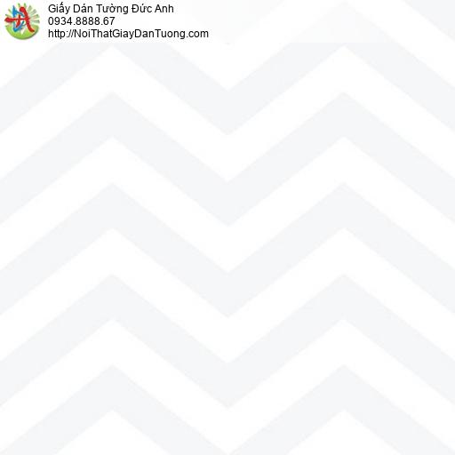70214-1 - Giấy dán tường họa tiết sóng biển màu trắng sáng