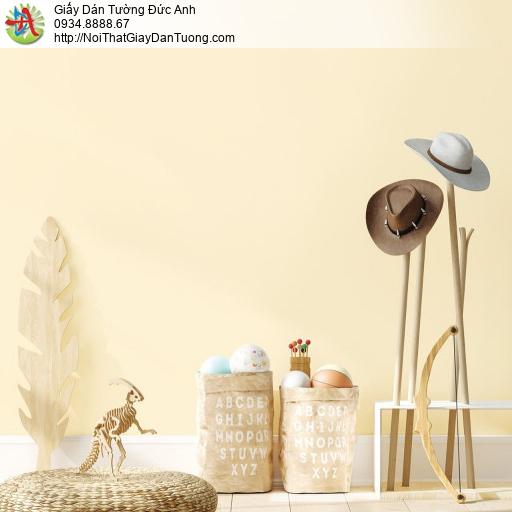 70216-2 - Giấy dán tường màu vàng kem, giấy gân trơn một màu vàng nhạt