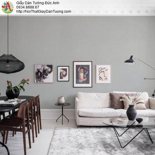 70218-3 Giấy dán tường một màu, giấy trơn màu xám nhạt đơn giản
