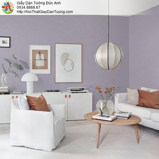70221-10 Giấy dán tường gân màu tím, giấy màu tím đơn sắc một màu