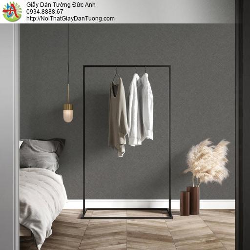 70221-6 Giấy dán tường gân màu xám đậm, giấy dán tường màu bê tông