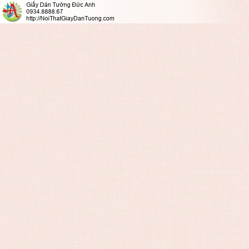 70223-2 Giấy dán tường màu hồng nhạt, giấy trơn gân đơn giản hông phấn