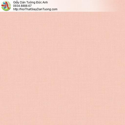 70223-3 - Giấy dán tường màu hồng thắm, giấy trơn gân một màu đỏ nhạt