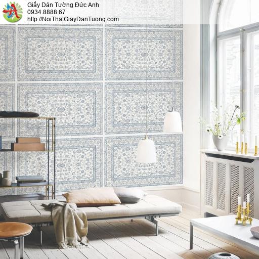 70224-2 Giấy dán tường hoa văn thảm sàn, dạng thảm màu xám cổ điển