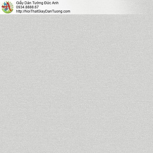 70226-4 Giấy dán tường đơn giản màu xám nhạt, giấy một màu trắng xám