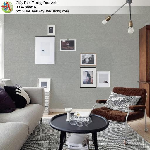 70226-6 Giấy dán tường một màu, giấy đơn sắc gân trơn màu xám