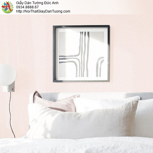 70227-3 Giấy dán tường màu hồng phấn, giấy đơn sắc một màu gân trơn