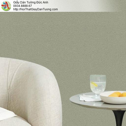 70227-5 Giấy dán tường màu xanh rêu, giấy xanh rêu một màu đơn sắc