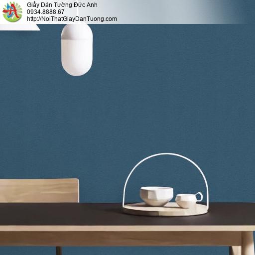 70227-7 Giấy dán tường màu xanh nước biển, giấy dán tường trơn gân