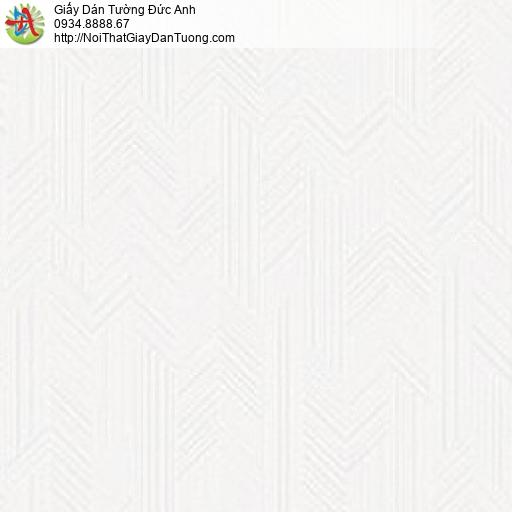 70229-1 Giấy dán tường gân chìm màu trắng, giấy vân chìm đẹp hiện đại