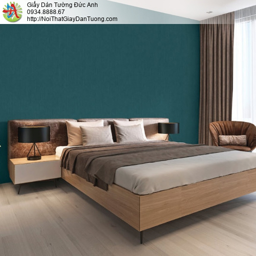 70229-4 Giấy dán tường màu xanh ngọc, giấy trơn một màu xanh ngọc đậm