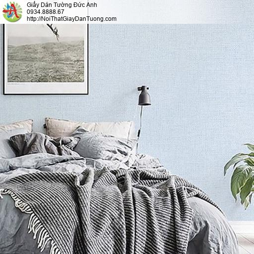 70231-8 Giấy dán tường màu xanh nhạt, giấy vân trơn một màu đơn giản