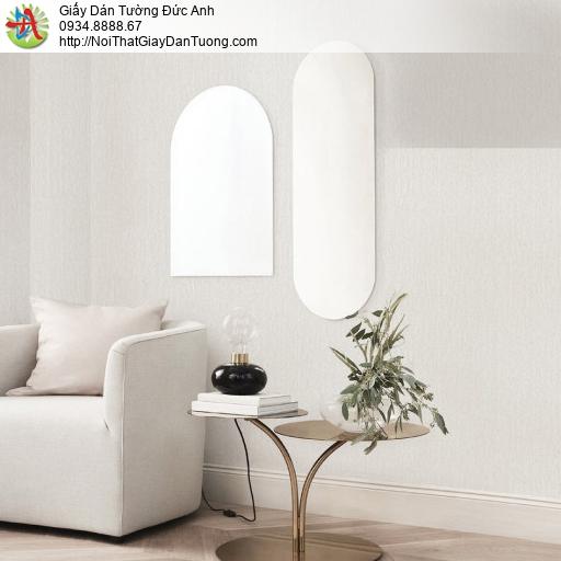 70236-1 Giấy dán tường hiện đại, giấy màu trắng xám nhạt một màu