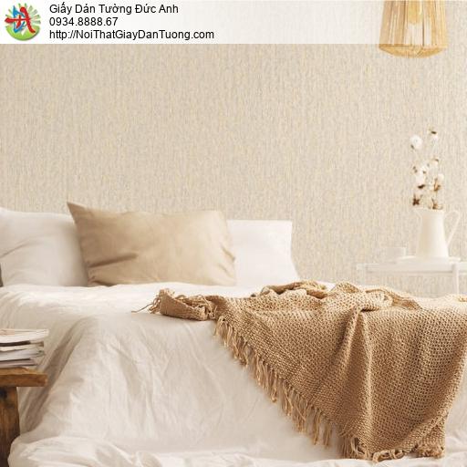 70236-2 Giấy dán tường màu vàng, giấy gân trơn đơn giản màu vàng mới