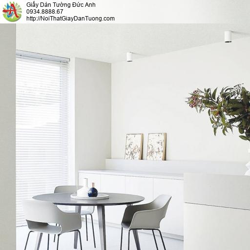 c9643-11 Giấy dán tường màu trắng hiện đại, giấy dán tường một màu