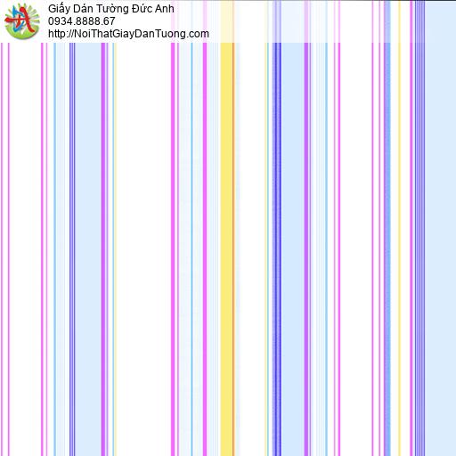 35002-3 Giấy dán tường dành cho các bé trai bé gái dạng sọc nhiều màu