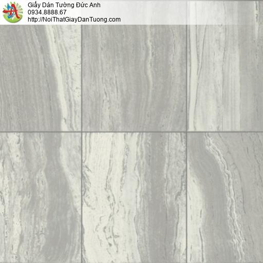 81011 Giấy dán tường giả đá miếng màu xám, tấm đá vuông to xếp chồng