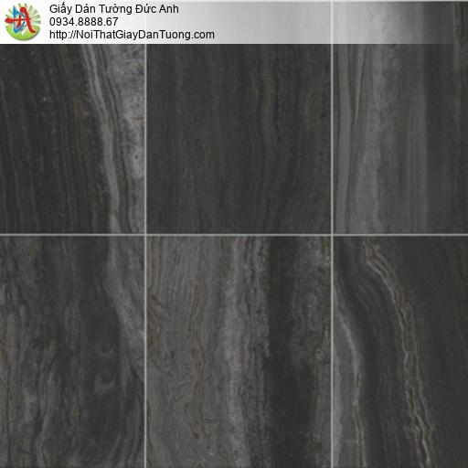 81015 Giấy dán tường giả đá màu đen, giả đá xám đen, đá phiến đen xám